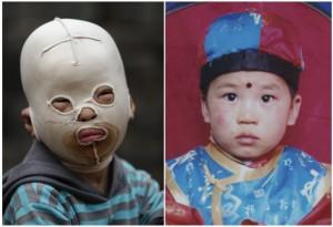Bambino mascherato