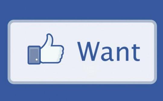Facebook, tasto ''Lo voglio''