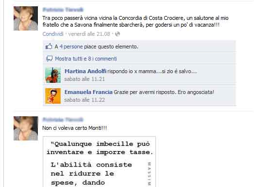Facebook Costa Concordia