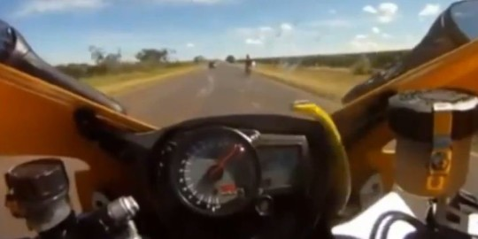 Serpente su motocicletta