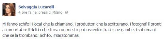 Selvaggia Lucarelli su Sara Tommasi