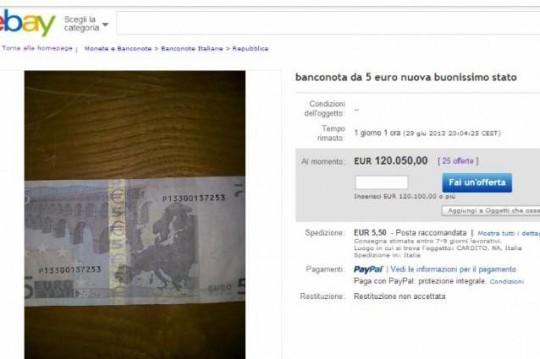 Banconota 5 euro eBay