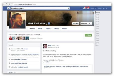 Mark Zuckberg Hacker Facebook