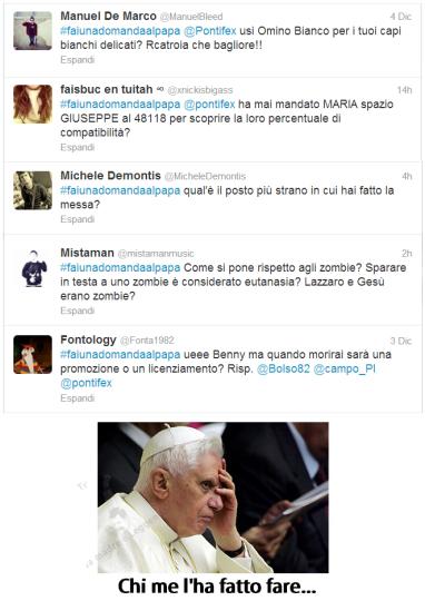 Domande Papa Twitter