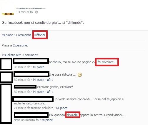 Diffondi - Tasto Facebook