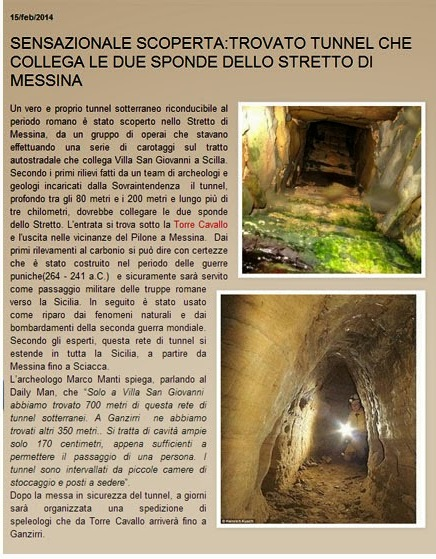 Tunnel Calabria Sicilia