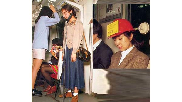 Supporti per dormire sui mezzi pubblici
