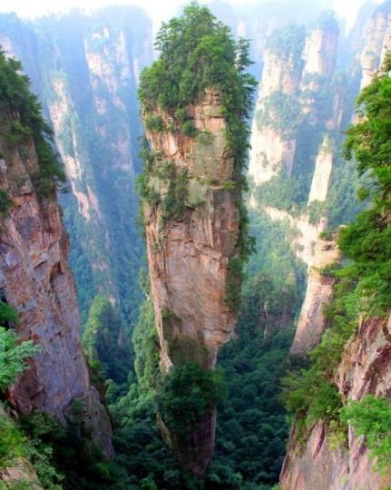 Montagne Tianzi, Cina