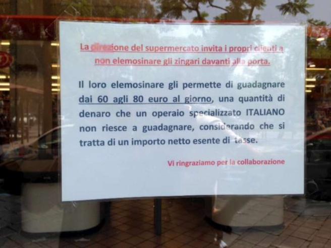 Non date soldi ai ROM, Catania