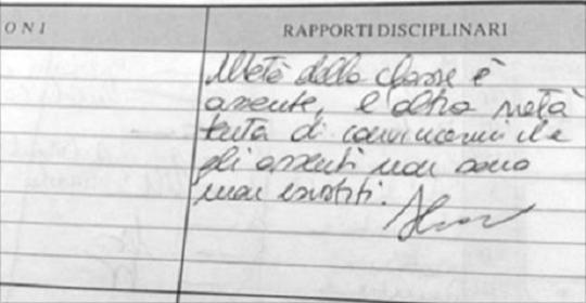 Note Disciplinari