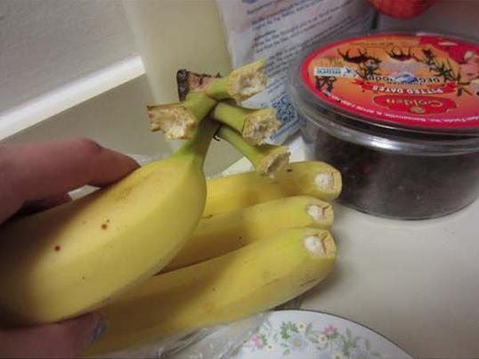 6. La ragazza che ha mangiato 3 banane a colazione