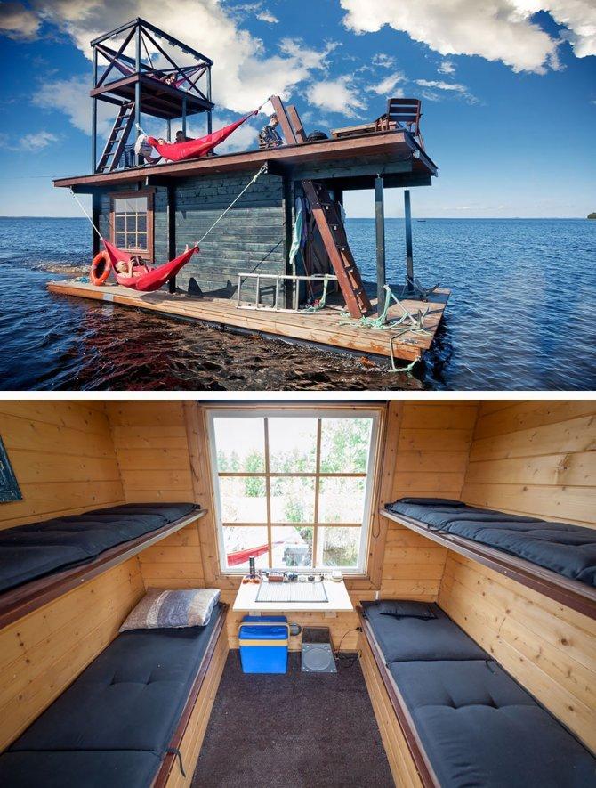 Casetta galleggiante in Finlandia