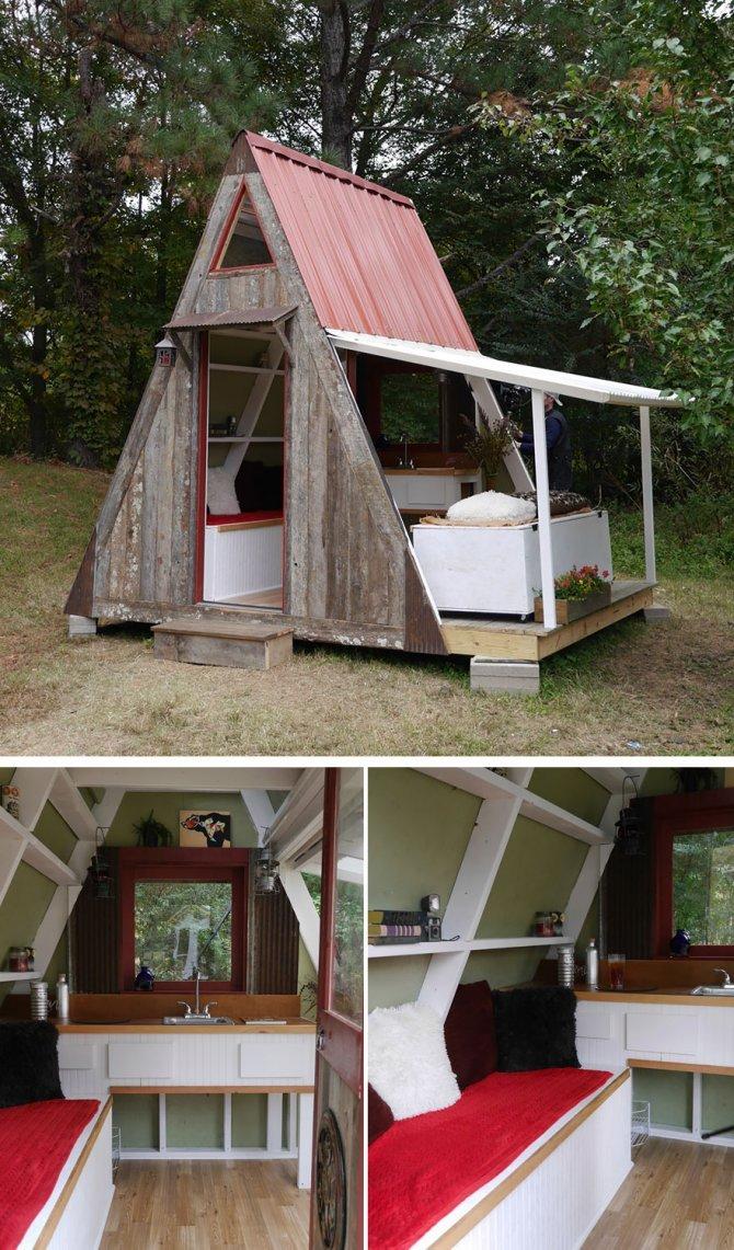 20 case minuscole ed assurde sfruttate alla perfezione for Idee minuscole in cabina