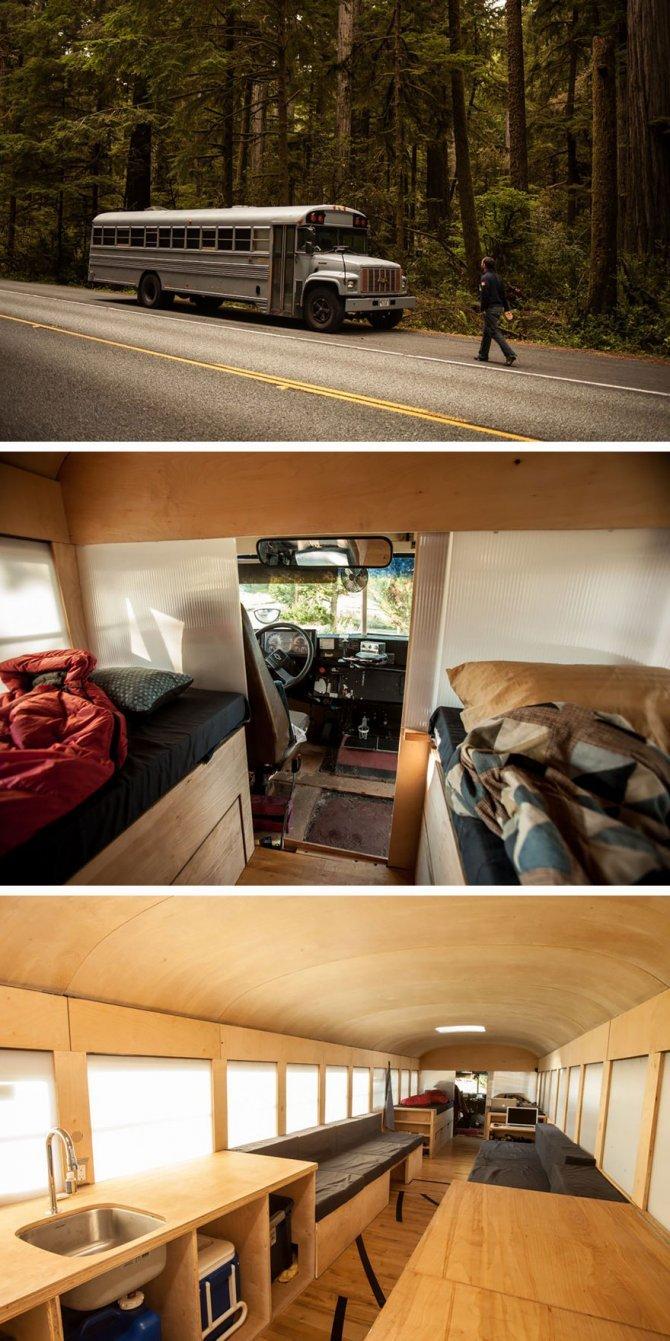 Casa ricavata da un autobus