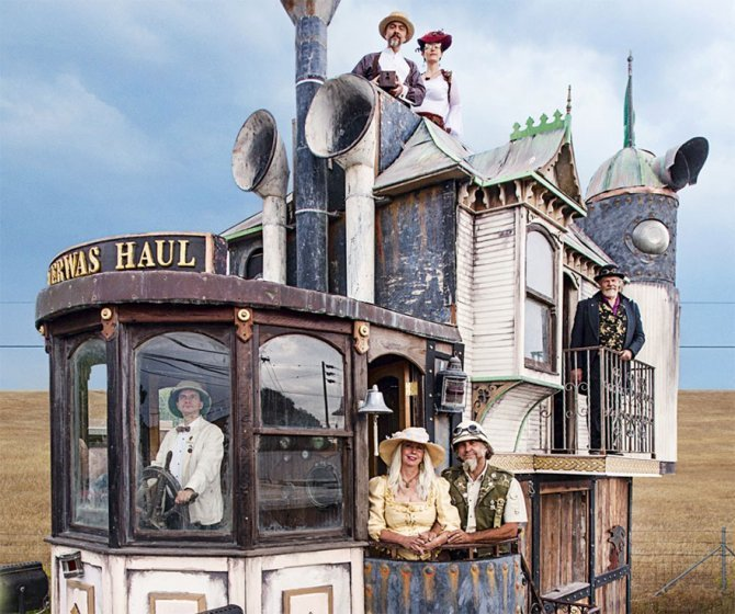 Neverwas Haul, una piccola casa vittoriana su ruote