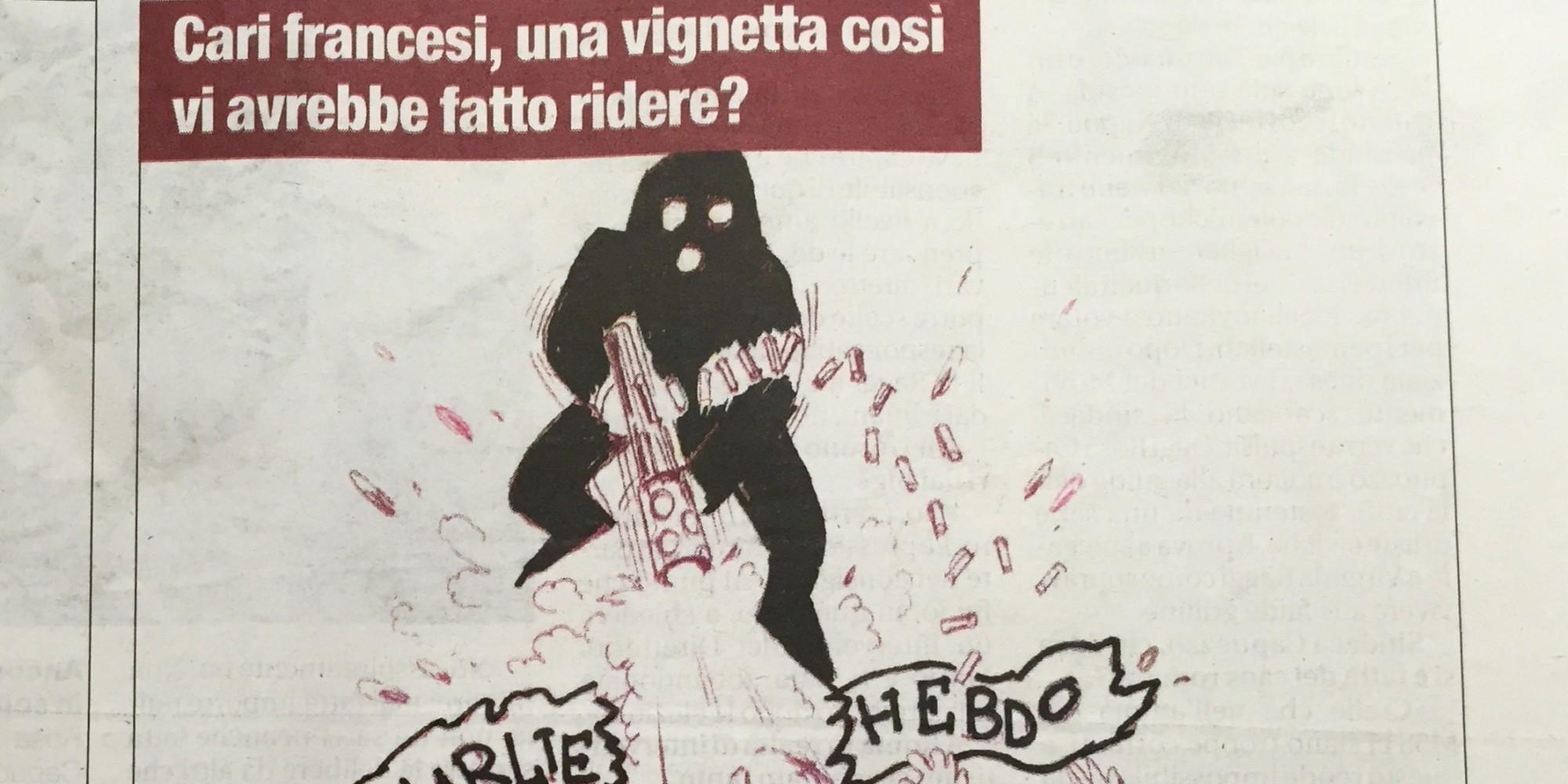 charlie hebdo risposta vignettisti italiani